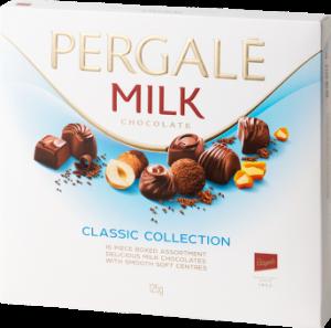 Набор шоколадных конфет PERGALĖ Milk Chocolate Collection с молочным шоколадом 382гр