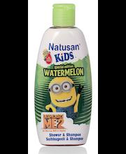Детский шампунь и гель с ароматом арбуза Natusan Kids 200мл
