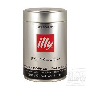 Кофе молотый темной обжарки ILLY Espresso 250гр