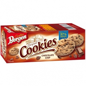 Печенье с кусочками шоколада - Bergen Cookies Chocolate Chip 145гр