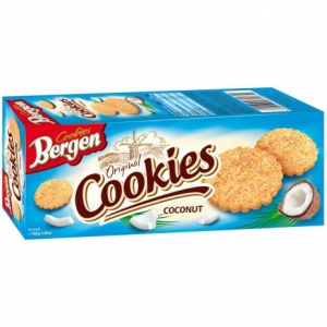 Печенье Bergen Cookies кокосовое 135гр