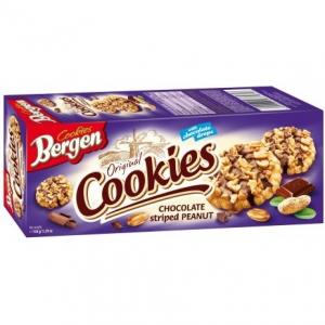 Печенье Bergen Cookies с шоколадом и арахисом 135гр