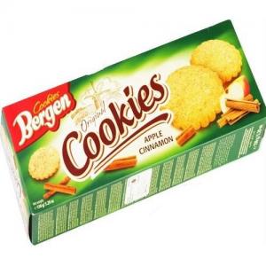 Печенье Bergen Cookies с яблоком и корицей 135гр
