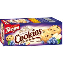 Печенье Bergen Cookies с яблоком и изюмом 135гр