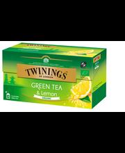 Органический зелёный чай с лимоном Twinings Organic Green Tea - lemon 25пак.