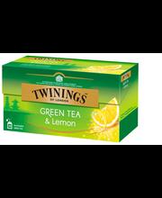 Зелёный чай с лимоном Twinings Green Tea Lemon 25пак.