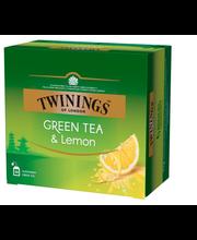 Зелёный чай с лимоном Twinings Green Tea Lemon 50пак.