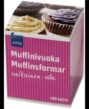 Формочки бумажные  для выпечки кексов Rainbow Muffinivuoka 200шт