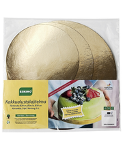 Подложки для тортов (золотые) Eskimo 3 шт. - 20,24,30см
