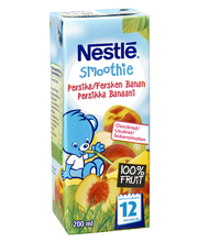 Смузи детский банан-персик Nestlé Smoothie Persikka Banaani (с 12 месяцев) 200мл