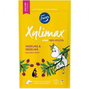 Жевательная резинка без сахара малина Xylimax Moomin Vadelma-Hedelmä 100гр