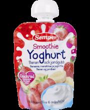 Смузи Semper йогурт,банан,клубника(с 6 месяцев) 90 гр.