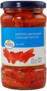 Королевский красный жареный перец, нарезанный Royal 360/220гр