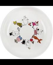Пластиковая детская тарелка (плоская) Muumi melamiini syvä lautanen 1шт.