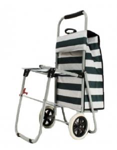 Сумка- тележка хозяйственная , со стулом, на колесах