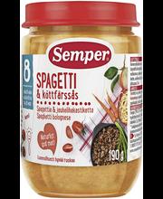 Детское питание  Semper спагетти и фарш с 8 мес. 190 гр