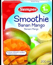 Смузи Semper банан, манго (с 1 года) 200гр