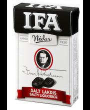 Мягкие пастилки с соленой лакрицей Nidar Ifa Salt Lakris lakritsipastilleja 34гр