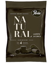 Конфеты лакричные Panda Natural Lakritsi 140гр