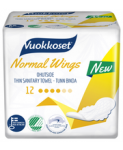 Прокладки гипоаллергенные Vuokkoset  Normal Wings 12шт.