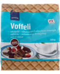 Вафли в шоколаде с шоколадной начинкой Rainbow Voffeli double chocolate 225гр